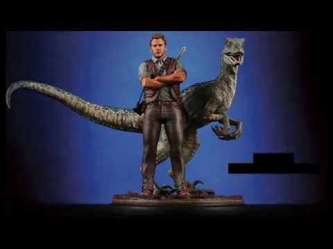 chronicle collectibles jurassic world owen blue 1 9 statue 30cm youtube. Black Bedroom Furniture Sets. Home Design Ideas