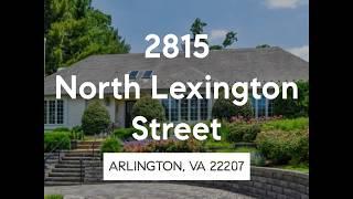 2815 North Lexington Street, Arlington VA