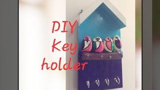 How to make easy wooden Key holder easy way