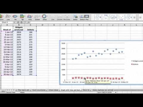How to put data into graph in excel