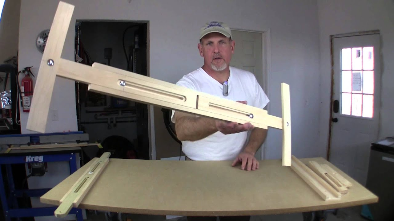 Stair tread jig new design youtube for Stair tread template tool