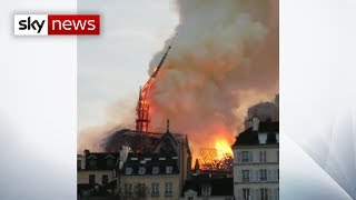 Fire breaks out at Notre-Dame cathedral