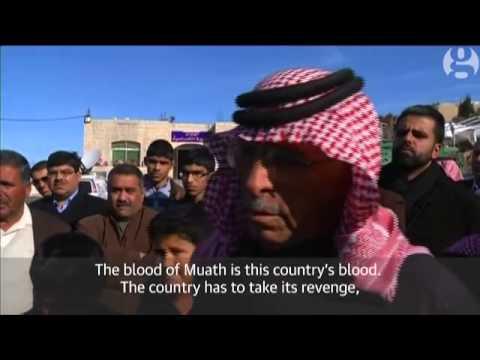 Jordan must avenge pilot's death, says Muath al-Kasasbeh's father – video