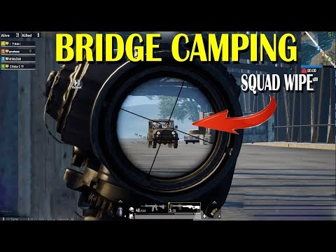 BRIDGE CAMPING | 1V4 CLUTCH | PUBG MOBILE HIGHLIGHT