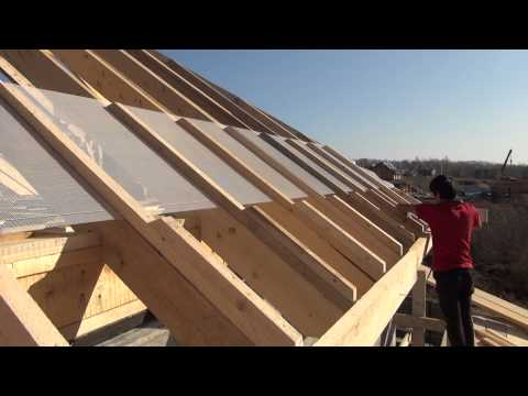 видео: Крыша , делаем обрешётку