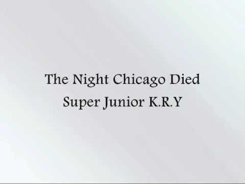 Super Junior K.R.Y - The Night Chicago Died [Han & Eng]