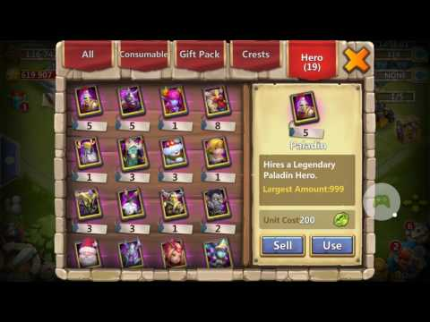 Castle Clash Opening A Legendary Hero Card + Lucky Chest