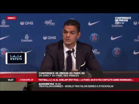 PSG Mercato   L'incroyable conférence de Presse de Hatem Ben Arfa