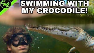 SWIMMING WITH MY CROCODILE!!!