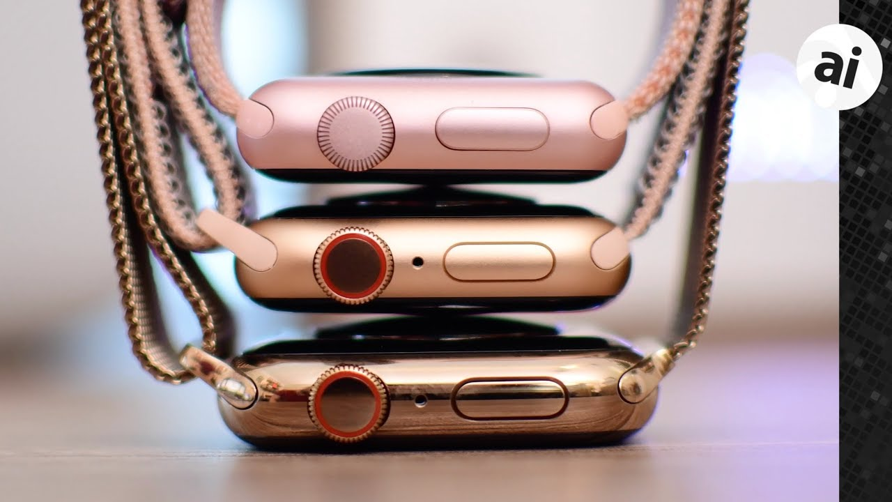 Compared All The New Gold Apple Watches Youtube