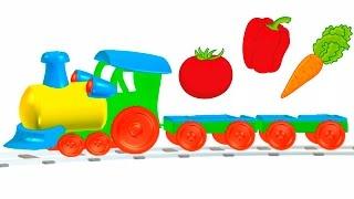 Мультфильм для малышей - Весёлая Школа - Овощи -  карточки Домана