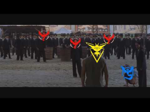 When everyone is either Team Valor or Mystic and you try take a gym as Team Instinct