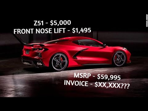 2020 CORVETTE C8 PRICING LEAKED ***EVERY OPTION COST AND INVOICE***