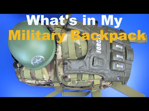 What's In My Military Backpack !? Military Guns Toys & Equipment- Backpack With Airsoft Toys !