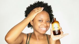 My FAST Hair Growth Using Extra Dark Jamaican Black Castor Oil
