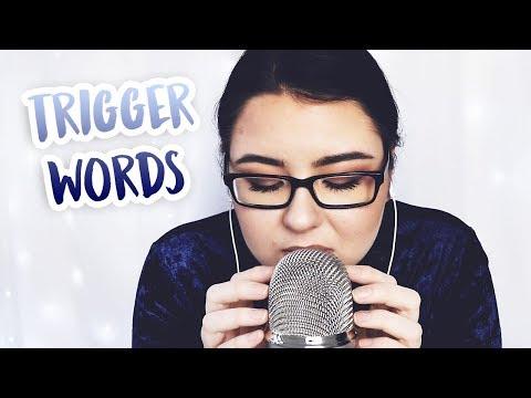 ASMR Trigger Words & Mic Scratching (WHISPER IN ENGLISH!!)