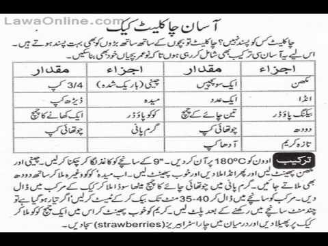 Cake Recipes In Urdu Youtube