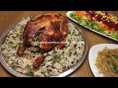 İç Pilavlı Tavuk Dolması Nasıl Yapılır | Fırında Tavuk Dolma Tarifi