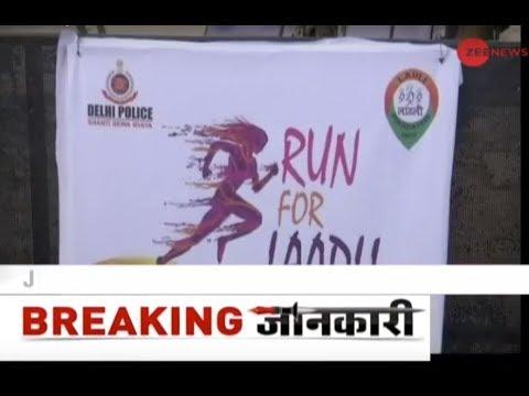 Home Minister Rajnath Singh flags off 'Run For Laadli' half marathon