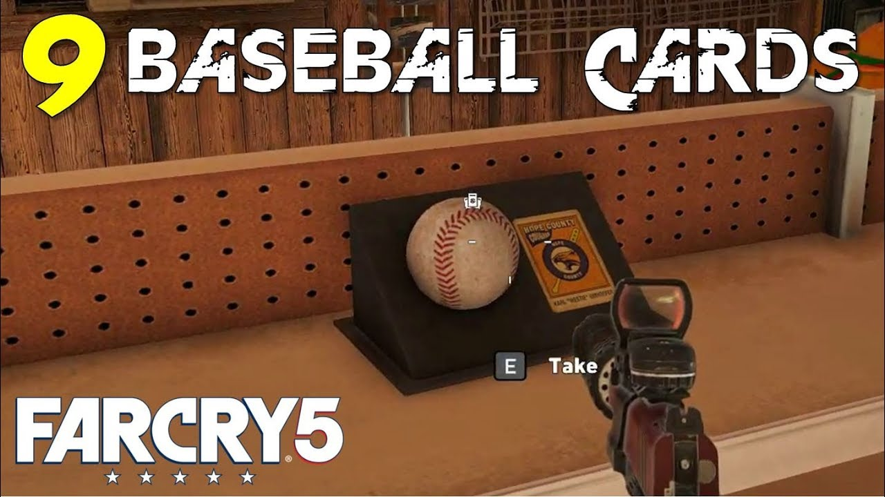 Location Of All Baseball Cards Grand Slam Whitetail Mountains Collectibles Guide Far Cry 5