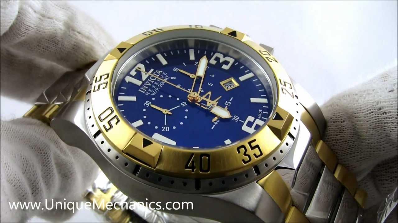 6c4915e6ea5 Invicta Watch 6261 Excursion Reserve Stainless Two-Tone Blue Dial  Chronograph