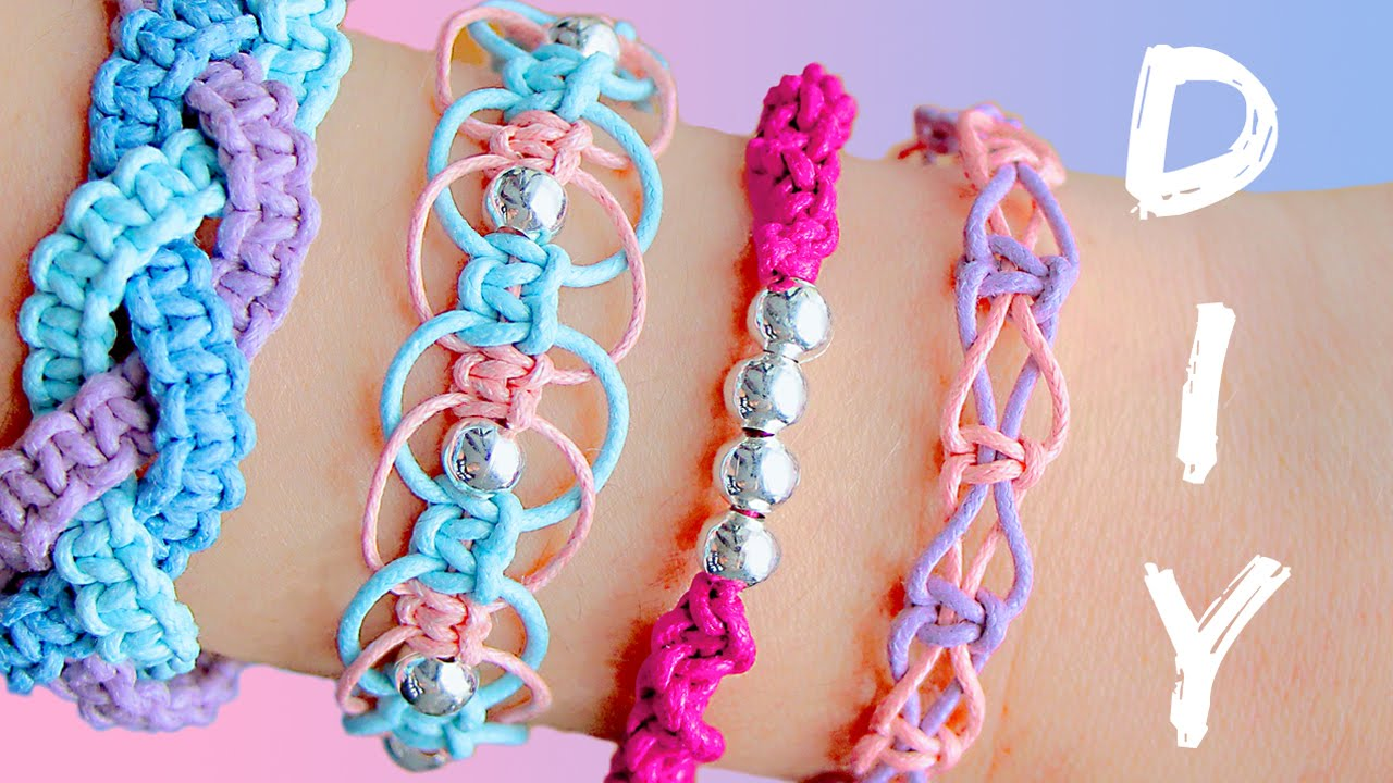 Simple bracelet making with string
