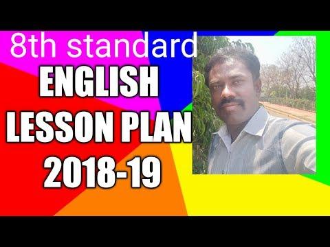 8th Standard English Lesson Plan 2018-19