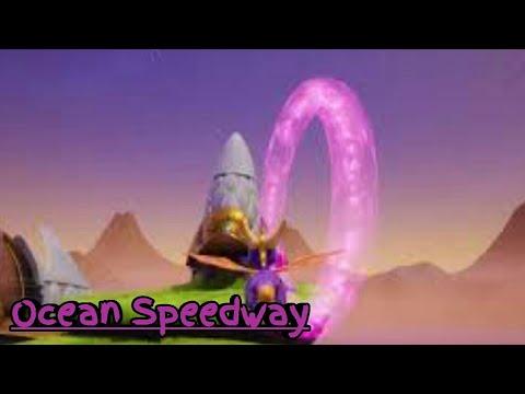 Spyro Ripto's Rage Remastered 100% Gameplay Walkthrough (Ocean Speedway)