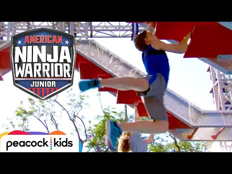 CLIP AMERICAN NINJA WARRIOR JUNIOR  Bryton from Ninja Kidz TV Takes On the ANW Jr Course