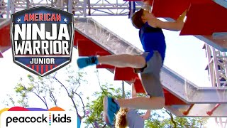 [FULL CLIP] AMERICAN NINJA WARRIOR JUNIOR | Bryton from Ninja Kidz TV Takes On the ANW Jr. Course