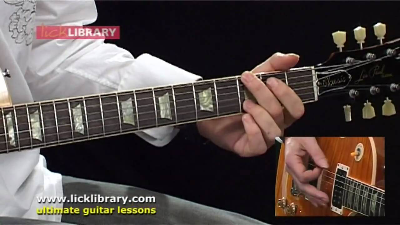Guitar lick advanced library series