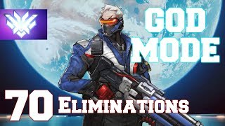 Top 500 Overwatch CARRY w/ Soldier 76 (63% Kill Participation)