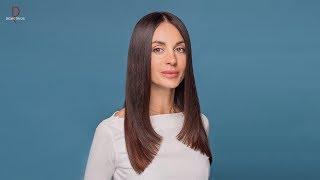 DEMETRIUS | Лесенка у лица | Прямой срез | Женская стрижка на длинные волосы | Техника стрижки