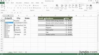 Numbering rows in a range or table from the Course Excel 2013 Power Shortcuts