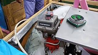 Air oprated valve actuator-on off valve calibration-on off valve opration