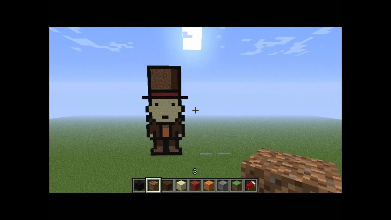 Minecraft Pixel Art Profesor Layton Y Luke Youtube
