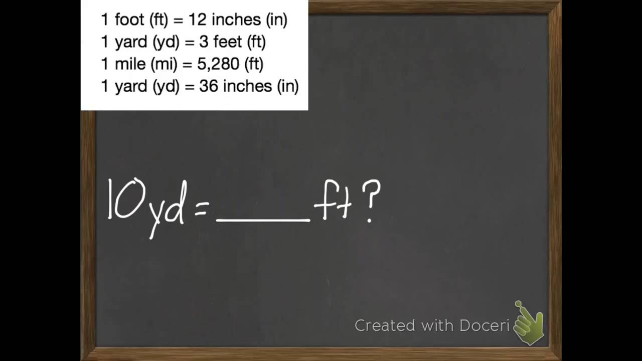 hight resolution of Convert Customary Units of Length (examples