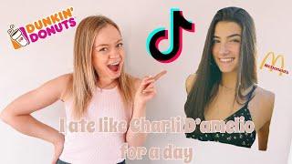 EATING LIKE CHARLI D&#39AMELIO FOR A DAY!  TikTok &amp Charli D&#39amelio secret diet??