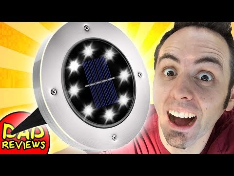 BEST SOLAR POWERED GARDEN LIGHTS? | Billing Solar Ground Lights Unboxing & First Look Review