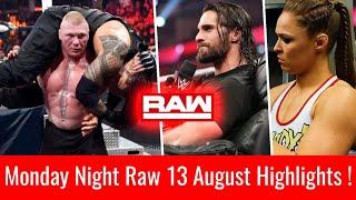 WWE Monday Night Raw 13 August 2018 Highlights ! Roman Reigns Vs Brock Lesnar Raw 8/13/18 Highlights