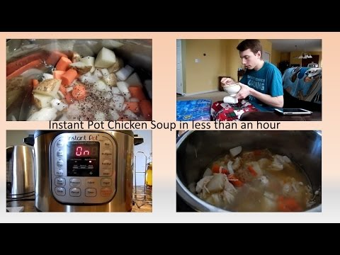 Chicken soup in Instant Pot