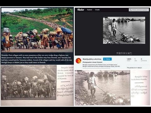 Myanmar Fake Photos on Rohingya in a Book BTV on air 01 09 18