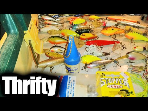 Thrift Store Tackle Box FULL Of Fishing Lures! Awesome Lures For $15
