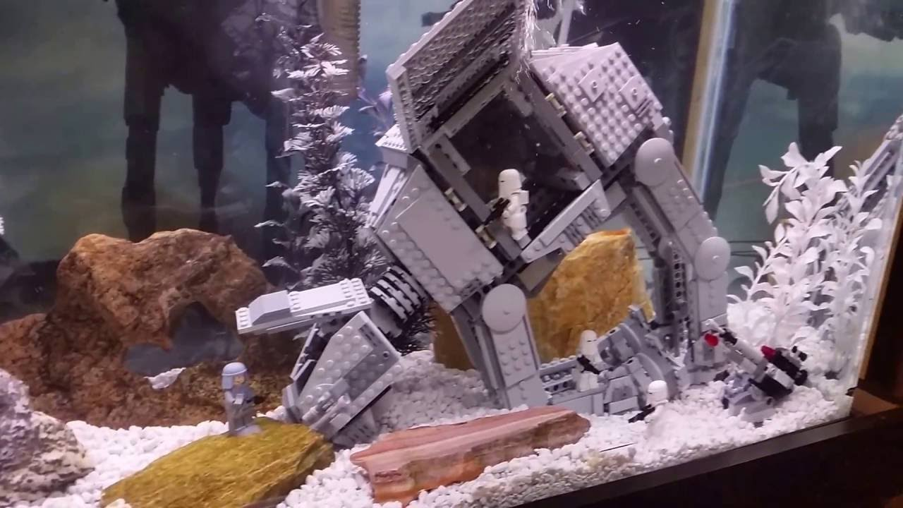 Lego star wars hoth fish tank aquarium youtube for Star wars fish tank decorations