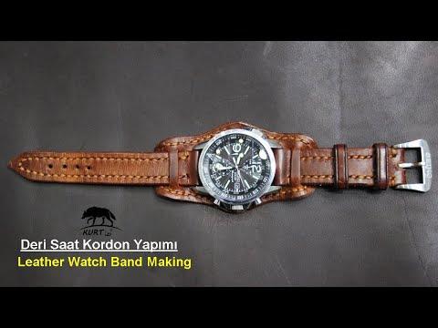 Deri Saat Kordonu Yapımı (leather watch strap making)