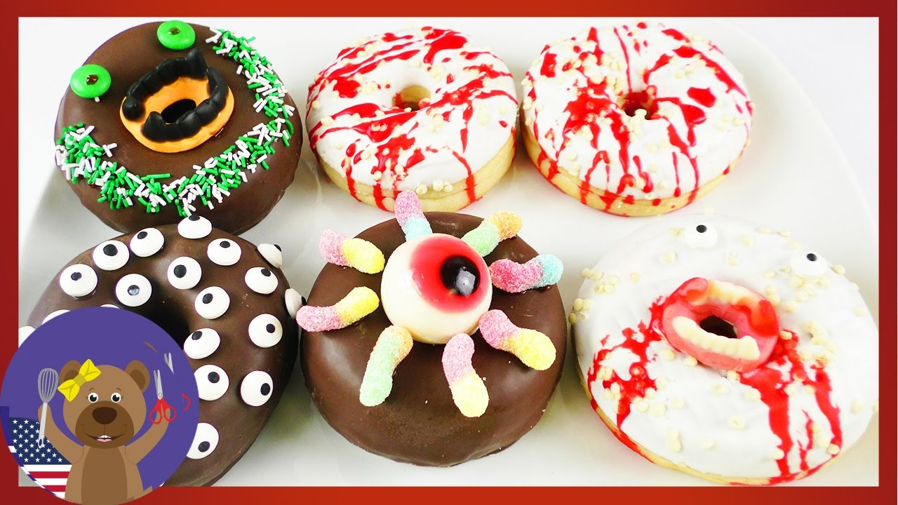 5 donut ideas for halloween 🍩 monster donuts decoration 🎃 party