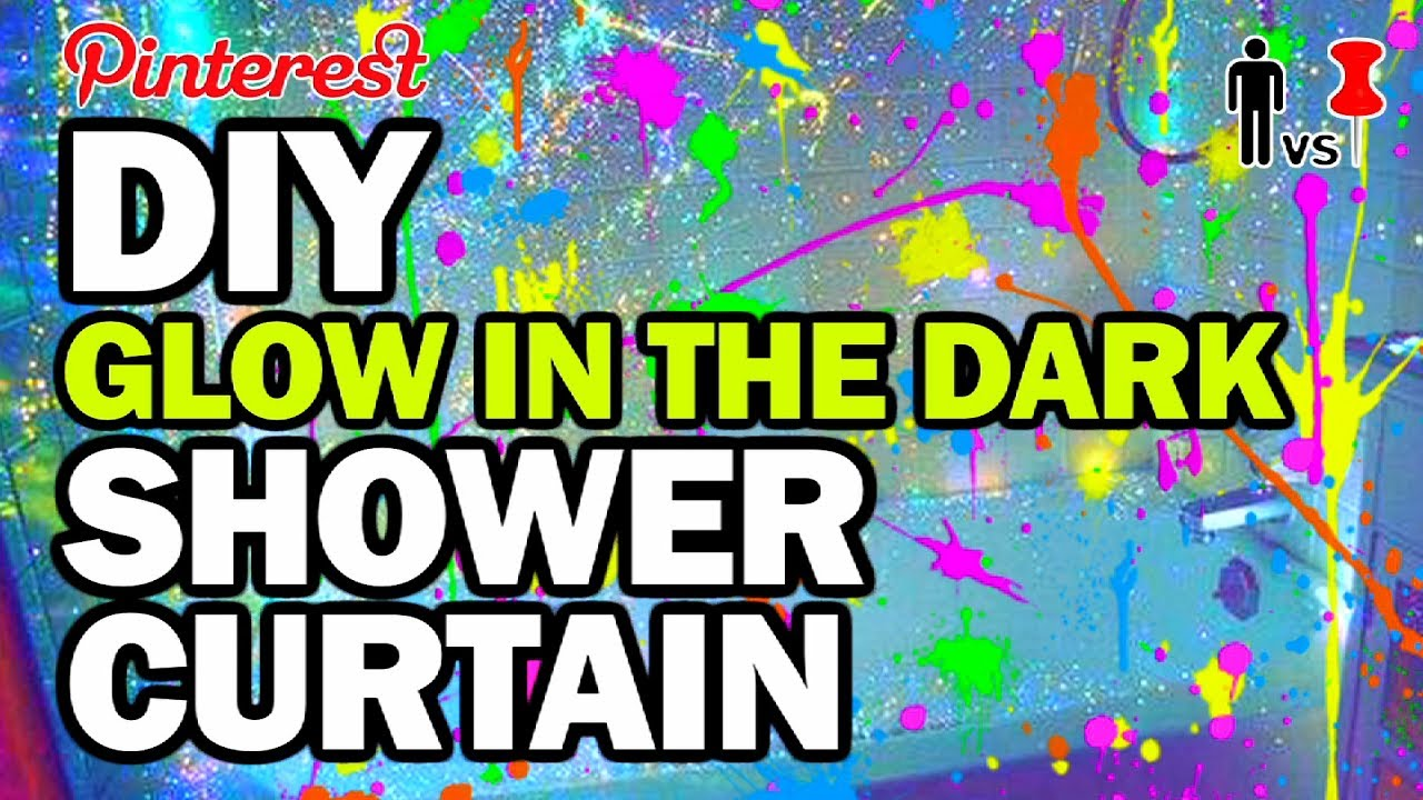 DIY Glow In The Dark Shower Curtain