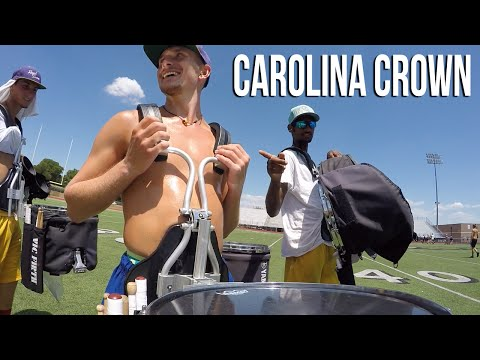 """2016 CAROLINA CROWN """"On the Field"""" - Snare Cam Rehearsal Footage!"""