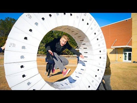 Millbrook High School - The Giant iMac Box Wheel!
