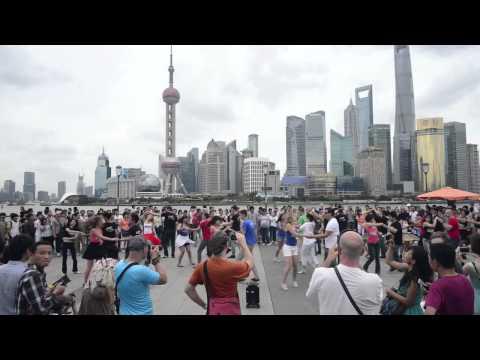 International Zouk flashmob 2014 - Shanghai, China - compilation video